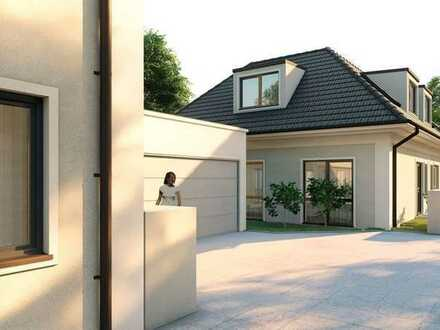 Doppelhaushälfte mit Südterrasse in München-Obermenzing. Rohbau fertiggestellt!