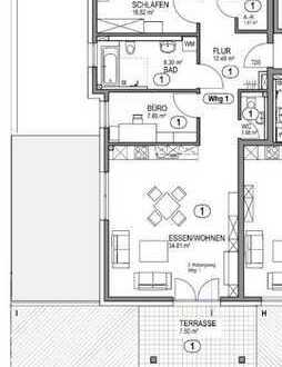 4,5-Zimmer-Wohnung mit Einbauküche und Terrasse in Herrenberg-Affstätt