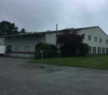 Lager, Pruduktion,Logistikfläche mit Kühlhaus und Rampe