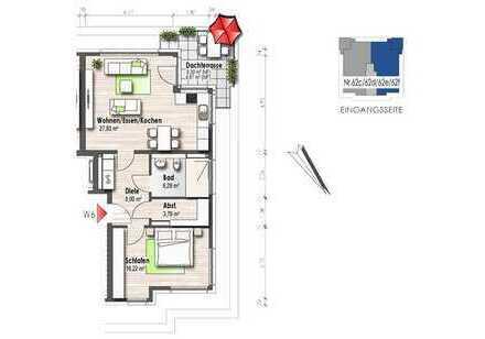 Wohnung mit Dachterrasse und Aussicht (Nr. 6)