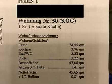 Pendler, Singles und Rentner aufgepasst - Tolle, lichtdurchflutete 1,5 Zimmer Wohnung im Helmhof