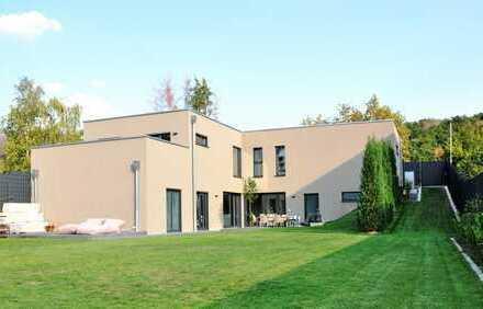 Moderne Bauhaus-Villa - Neubau-Juwel in reizvollster Lage Rheinhessens !