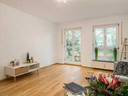 frei, hell und 2 Zimmer Wohnung mit viel Charme und Gartenanteil