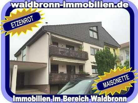 WOHNEN IN WALDBRONN = DIE ALTERNATIVE ZUM HAUS - SPITZEN MAISONETTE MIT BESTEN AUSSICHTEN...