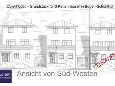 Hanggrundstück für 2 Kettenhäuser / DH in Bogen-Schönthal