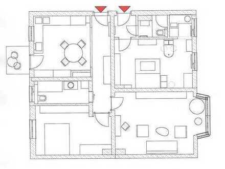 Attraktive und helle 3-Zimmer-Hochparterre-Whg. mit Westbalkon in MAXVORSTADT (Nähe Josephsplatz)