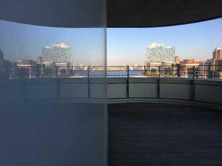 Hochmoderne, sanierte Wohnung im Marco Polo Tower direkt am Hafen mit Concierge Service