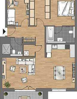 Stilvolle 3 Zimmerwohnung mit Loggia in Bestlage *Erstbezug*