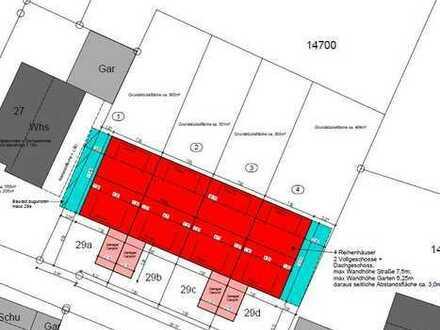 Großes Grundstück bzw. einzelne Reihenhausgrundstücke in ruhiger Lage zu verkaufen