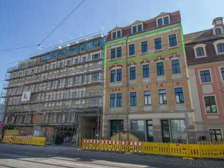 Erstbezug nach Sanierung mit Balkon: attraktive 3-Zimmer-Wohnung in Dresden