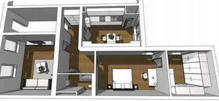 FRISCH SANIERT: 3-Zimmer Hochparterre-Wohnung mit Garage & Holzdielen im Saarlandstraßenviertel
