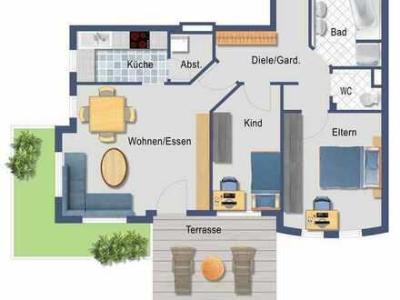 Helle, moderne 3,5 Zi.-Wohnung mit Garten in Steinenbronn