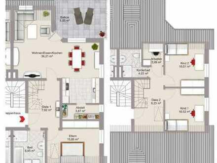 Wunderbare, helle 4,5-Zimmer-Maisonette-Wohnung mit großer Dachterrasse in Süd-West-Ausrichtung