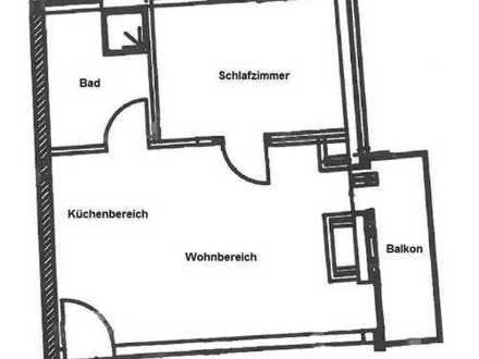 Helle 2-Raum-Dachgeschosswohnung (Aufzug, ebenerdig) mit Balkon
