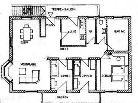 Stilvolle, gepflegte 4-Zimmer-Wohnung mit West- und Südbalkon in Gilching