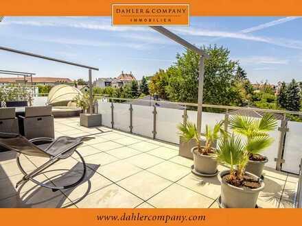 Elegantes Penthouse auf zwei Etagen mit Balkon und Wohlfühl-Dachterrasse
