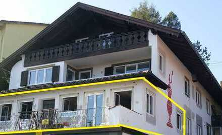 Erstbezug nach Sanierung: attraktive 3-Zimmer-Wohnung mit Terrasse in Bad Kohlgrub