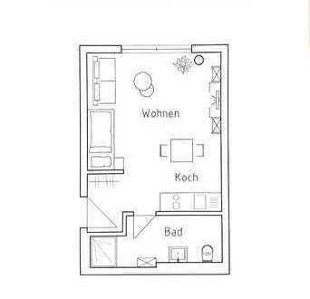 Erstbezug: exklusives 1-Zimmer-Business Appartment voll möbeliert in Bad Friedrichshall