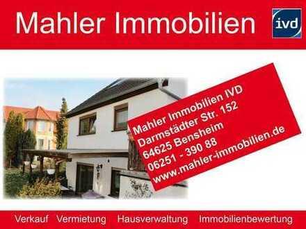 Gesuchte Lage in Bensheimer Weststadt - renovierungsbedürftige Haushälfte mit Garage und Stellplatz
