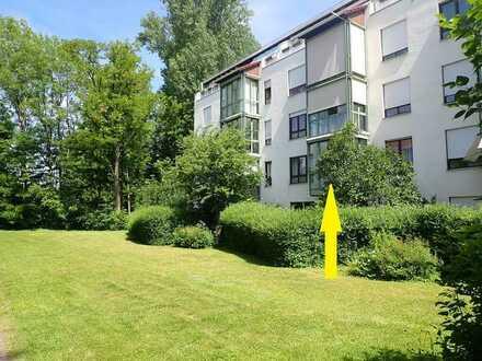Schöne, voll möblierte 2 ZKB Hochpaterre-Wohnung mit Wintergarten, Nähe Bahnhof Mering