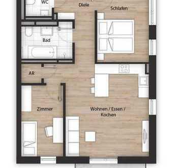 Erstbezug mit Balkon: exklusive 3-Zimmer-Wohnung in Fürth