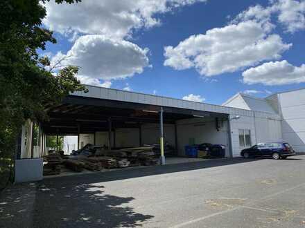 Überdachte Freihalle und Lagerhalle und Lackierkabinen ab 1000 m² Fläche ab sofort  zu vermieten