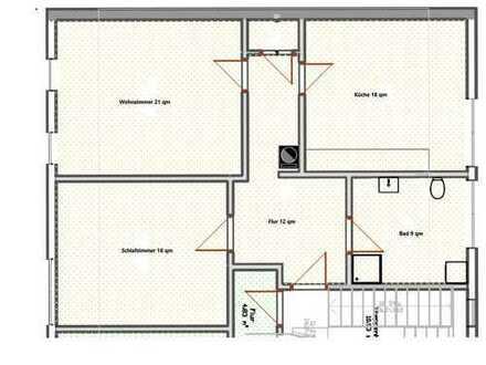 Erstbezug nach Sanierung: geräumige 2-Zimmer-Wohnung in Nürnberg