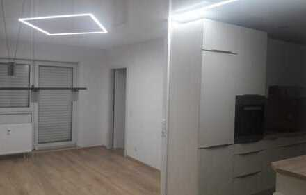 Stilvolle, vollständig renovierte 2-Zimmer-Terrassenwohnung und EBK in Pforzheim