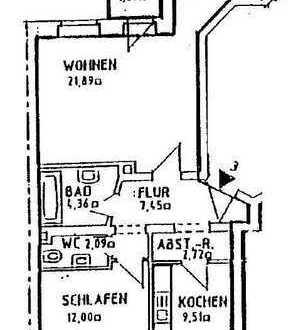 vermietete 2 Raum mit Balkon am Seehaus