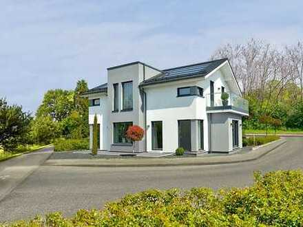 Bauen Sie mit uns Ihr persönliches Einfamilienhaus, zum Beispiel: