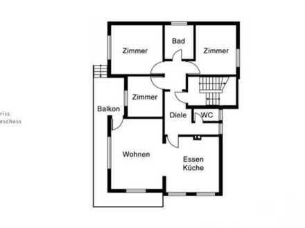 Wohnung mit 3 Zimmern, großem Wohnzimmer und Balkon in Grünsfeld