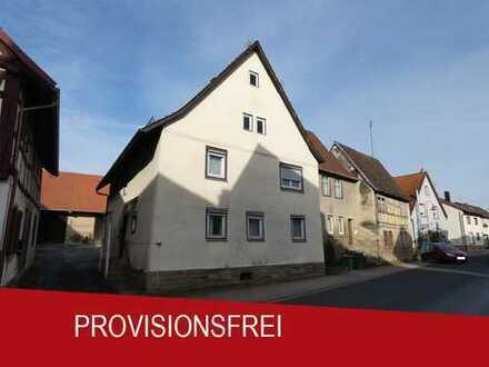 PROVISIONSFREI! Wohnhaus mit Stall und großer Scheune in Zaisenhausen!