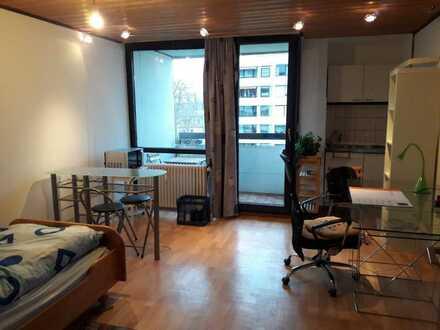Gepflegte 1-Zimmer-Wohnung mit Balkon und Einbauküche in zentraler Lage von Nürnberg am Wörder See