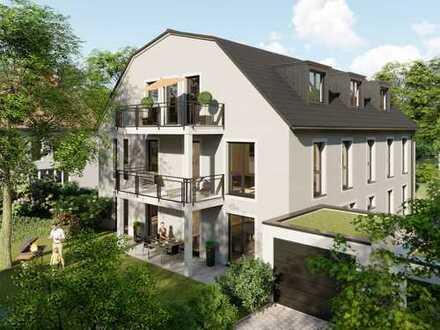 Einladende 3-Zimmer Maisonette-Wohnungen mit großer Terrasse und ca. 152 m² großem Privatgarten