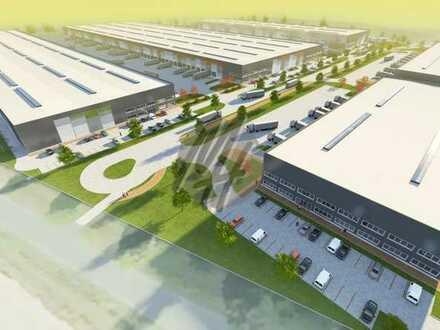 KEINE PROVISION ✓ NEUBAU ✓ Lager-/Logistikflächen (40.000 m²) & Büroflächen zu vermieten