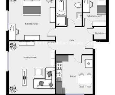 Seenähe, Garten, Garage und top gepflegte 3 Zimmer in Neuruppin/Wuthenow warten auf Sie!