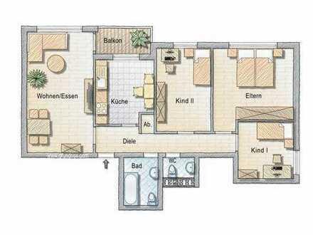 Schöne Eigentumswohnung, 79m², in Soester Süden