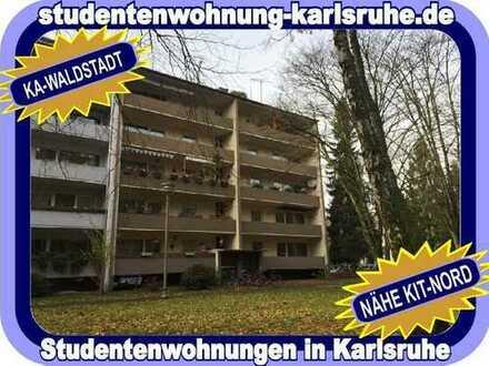 STUDIEREN IN KARLSRUHE = MÖBLIERTES 3-ER WG-WOHNREFUGIUM MIT BALKON IN DER BELIEBTEN WALDSTADT...