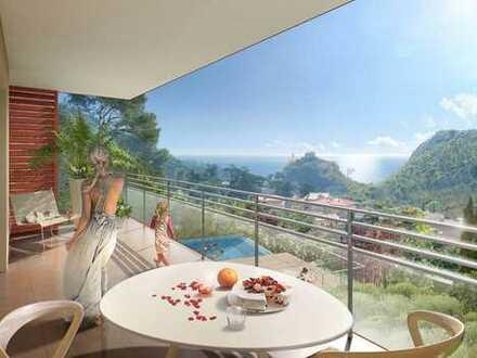 ***Neubau Wohnung mit Meerblick und Pool in Eze Village***