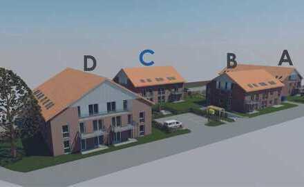 Attraktive Eigentumswohnung, Küchenbereich mit großzügigen Abstellraum und Balkon / KfW-55