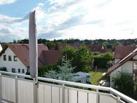 Lichtdurchflutete möblierte Maisonette-Wohnung (4 ZKB) über den Dächern Untermeitingens