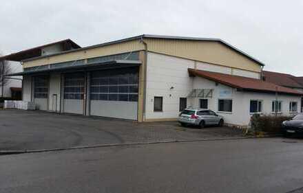 Nachmieter gesucht für zentral gelegene Lagerhalle mit großer gepflasterter Freifläche und Büroanbau
