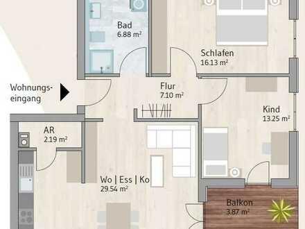 Helle 3-Zimmer-Wohnung im EG mit Süd-/Ostausrichtung