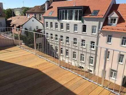 Dachterrasse in der Innenstadt Ludwigsburg