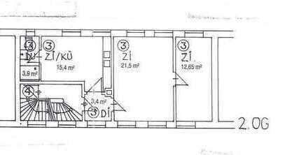 Ansprechende 2-Zimmer-Wohnung mit EBK in Altstadt