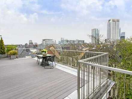 Dachgeschoss Maisonettewohnung im Westend Nord mit phantastischem Skylineblick