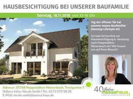 Hausbesichtigung in Hoppstädten - Weiersbach am 18.11. von 13 - 16 Uhr! INFO'S rund um's BAUEN!
