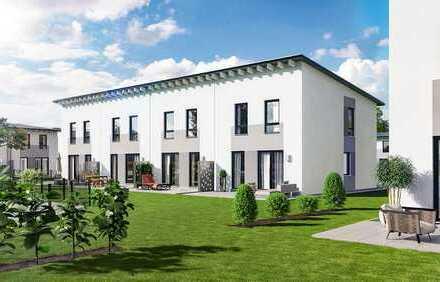 Reihenhaus-Neubau Erstbezug, eigenes Haus mit Garten und 2 Stellplätzen, schlüsselfertig