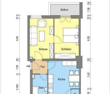 *2 Zimmerwohnung mit Wohnküche & Balkon*