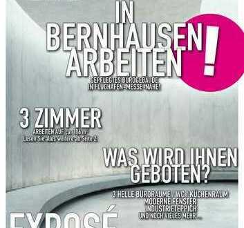 106 qm Büroräume in Filderstadt-Bernhausen -Autobahn/Flughafen/Messe Nähe!!!!